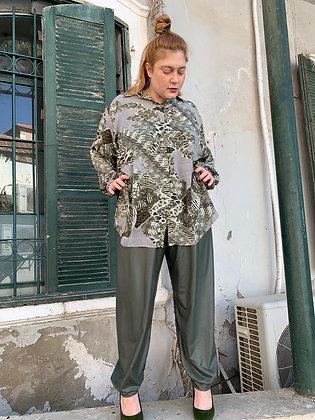 חולצת הגרושה מאיסטנבול - מנוחש ירוק שיפון
