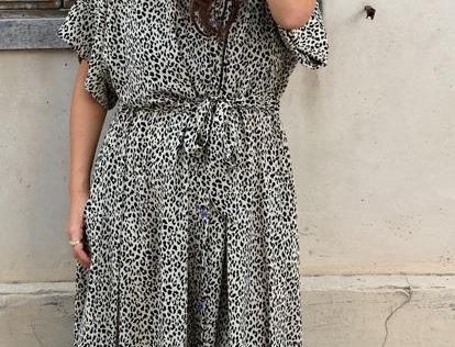 שמלת תראו אותה - מנומר חום עדין