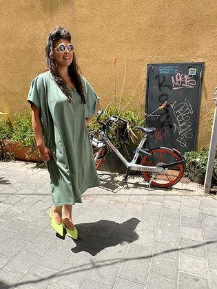 שמלת אלכוג׳ל מונאמור - ירוק מנטה