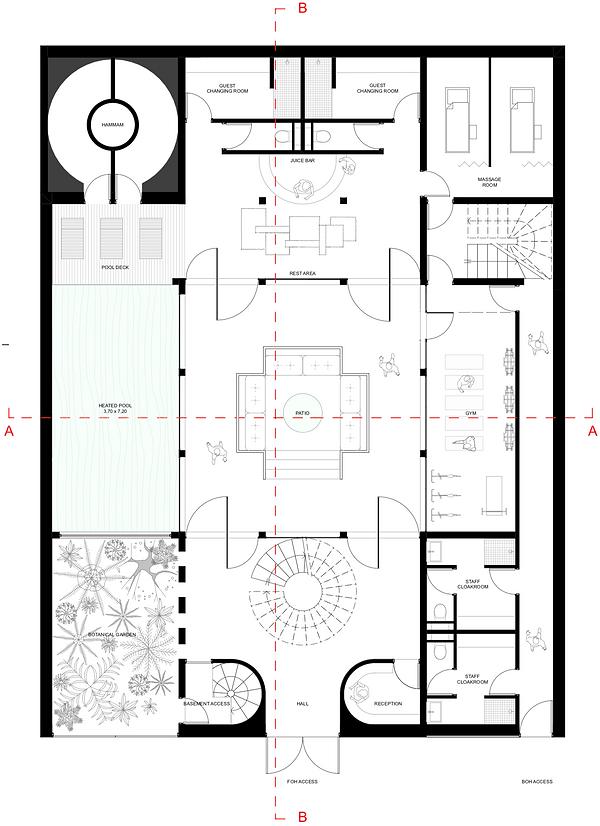 aba - architecture - maison contemporaine - Marrakech - nossnoss