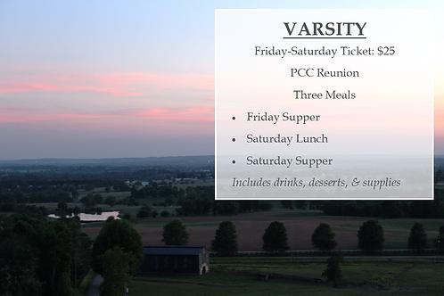 Varsity Ticket: Friday-Saturday