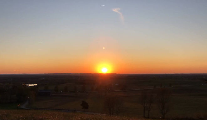 Watch the sun set from the top of Burdette Knob!