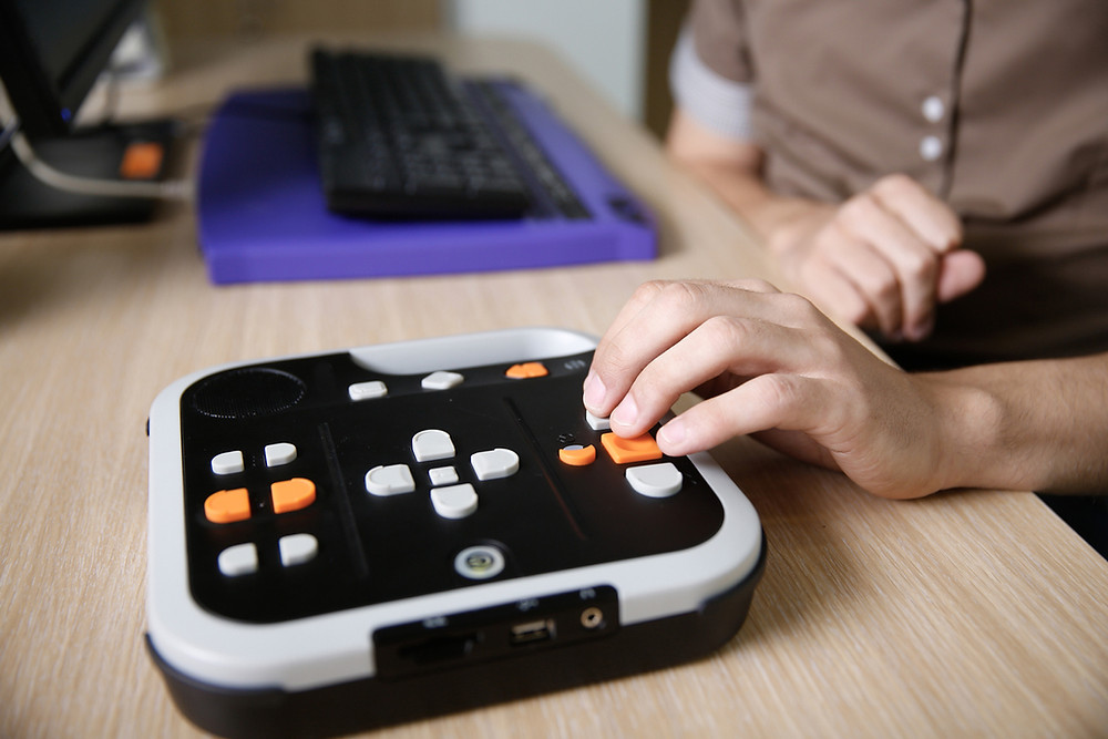 Audio-book-player-for-visually-impaired-person-to-listen-to-audio-book-on-computer