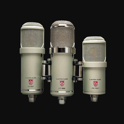 Lauten Audio Signature Series microphones Eden LT-386, Atlantis FC-387, and Clarion FC-357.