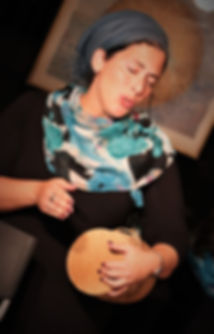Sarah Landman on drum.JPG