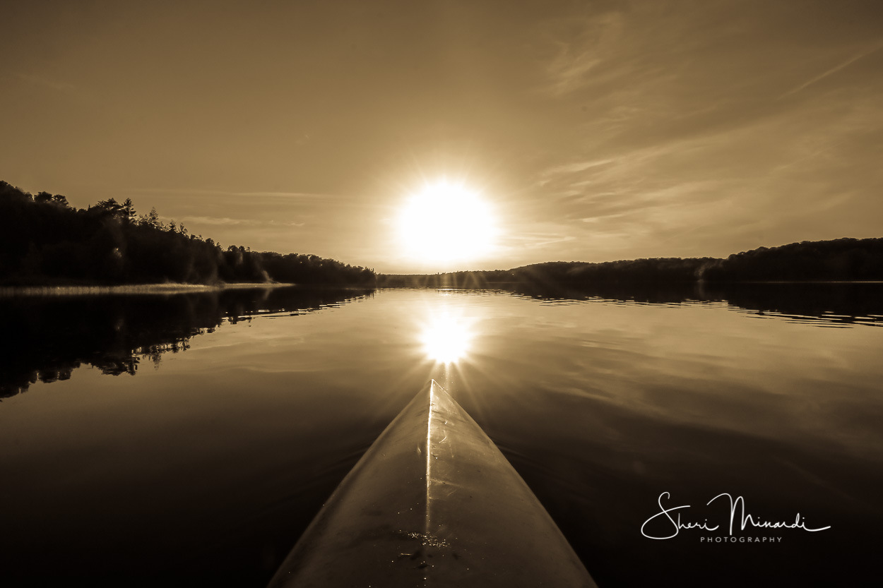 Sunset on the Kayak Sepia June 2018