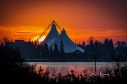 Pavillion and Firey Sunrise, Nov