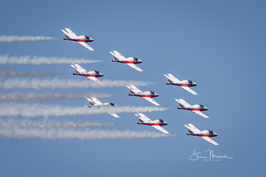 Snowbirds Fly Over Sault Ste