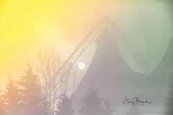 Foggy Morning Pavilion Sunrise Oil Filte