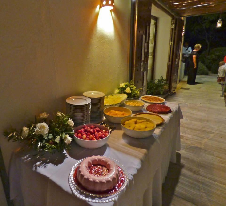 Mesa de sobremesas de casamento