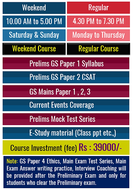 Weekend Coaching for UPSC Civil Services Exam