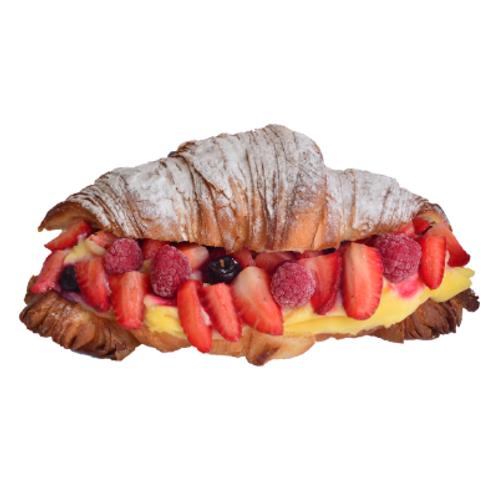 Vanilya Kremalı Kruvasan Pasta