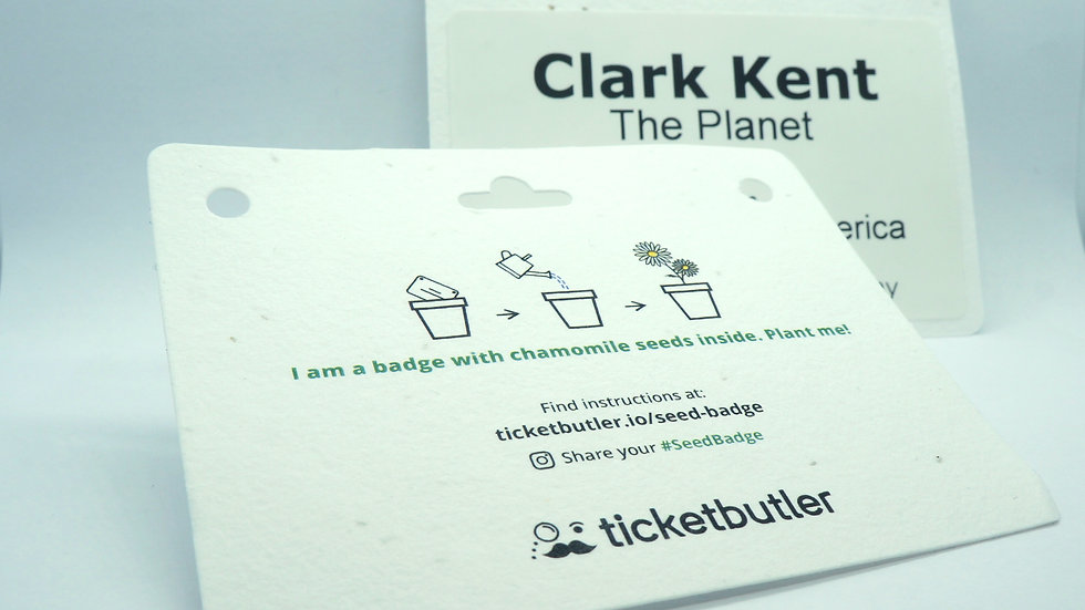 Plantable name badges