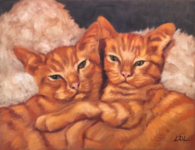 Ginger Cats Painting - Commission
