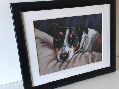 Pastel Portrait Framing