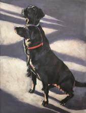 Black Labradors Painting