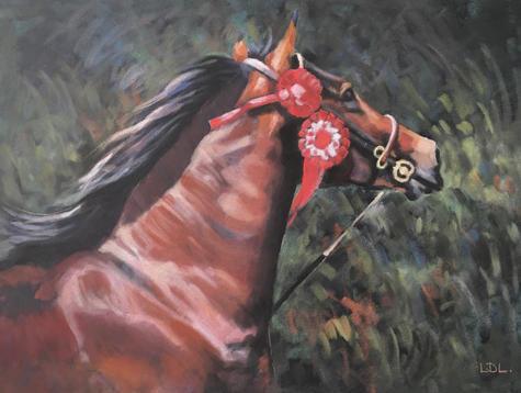 *SOLD* Showman - Welsh Section D Horse Pastel Painting