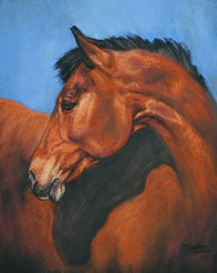 Bright Bay Horse Painting