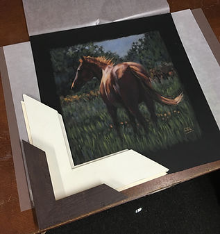 chosing a frame for a horse painting