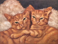 Ginger Cats Portrait Painting Commission