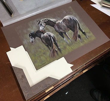 Choosing a frame for a horse painting