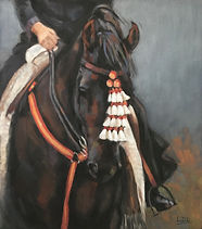 Lipizzaner Horse Pastel Painting