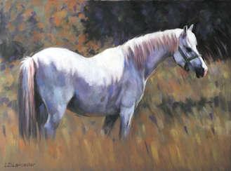 Grey Pony Pastel Paintin