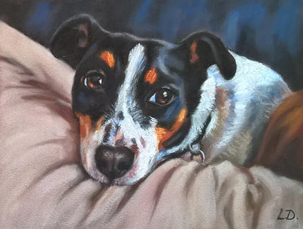 Waiting - Jack Russell Painting
