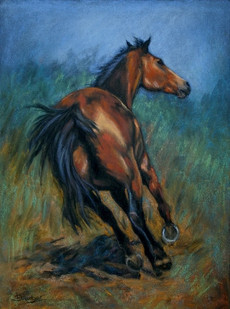 Bay Horse painting
