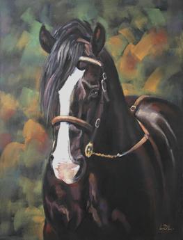 Welsh Cob Stallion Pastel Painting