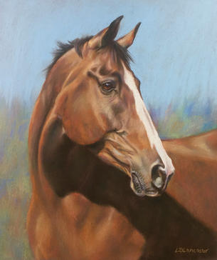 Bay Thoroughbred Horse painting