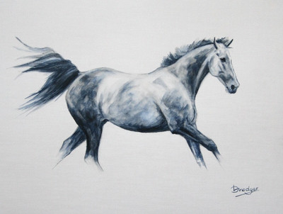 Grey Horse Painting