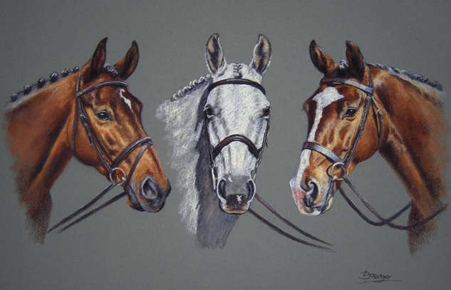 Three Horses Portrait