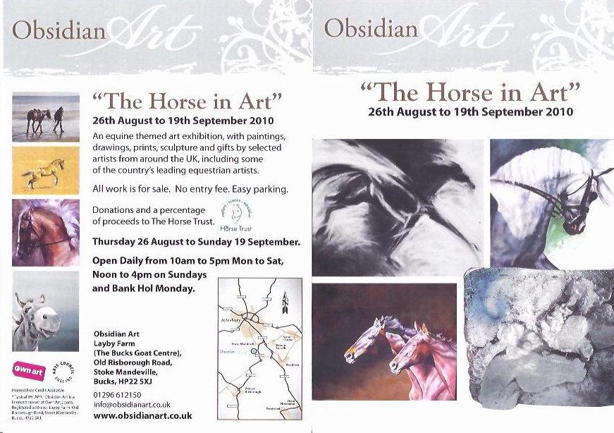 Obsidian Gallery Horse In Art exhibition 2010 Flyer