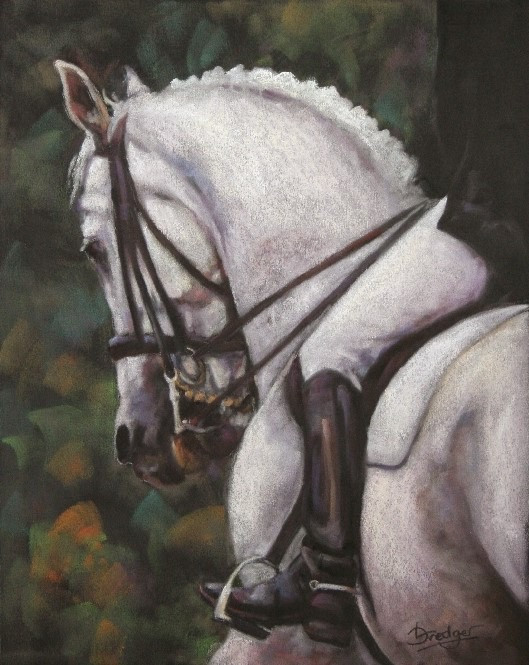 Grey Dressage Horse Painting
