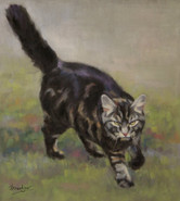Tabby Cat Commissioned Painting