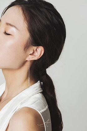 Less is more long diamond earrings