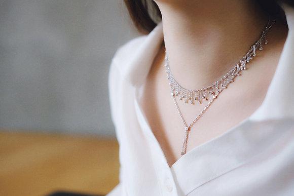 Rain stars Meteor necklace & Comet necklace