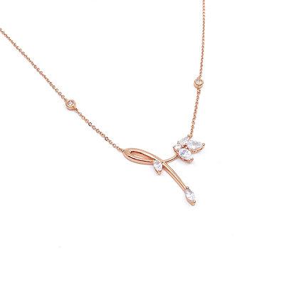 Sparkle flowers necklace
