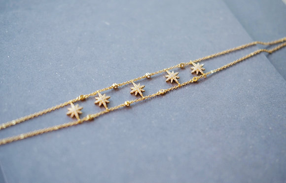 Stars & stars choker necklace