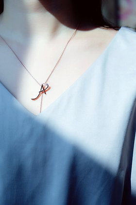 """A"" Y simple necklace"