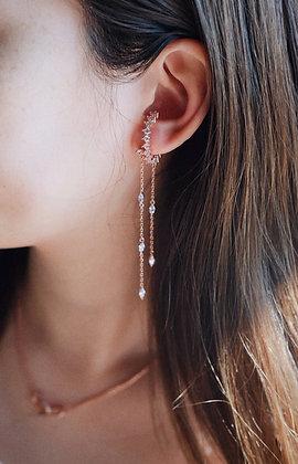 Double drops earrings