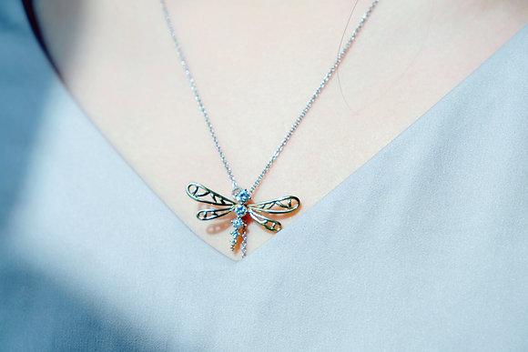 """""""Dragonfly"""" Y simple necklace"""