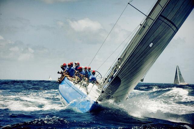 Racing on Jaguar, Grenada sailing week 2014