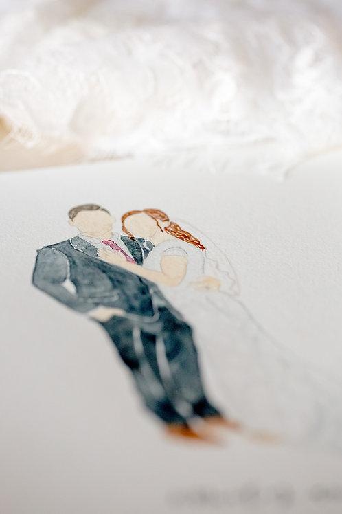 Wedding Watercolour Portrait