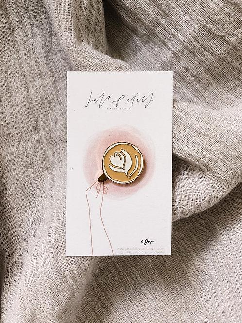 Latte Art Enamel Pin