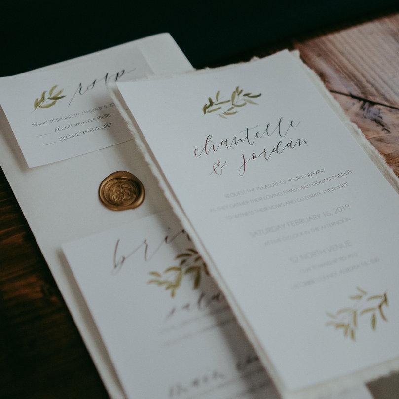 Calligraphy Menu and Invitation Suite