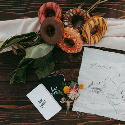 Vow Books, Elopement Calligraphy