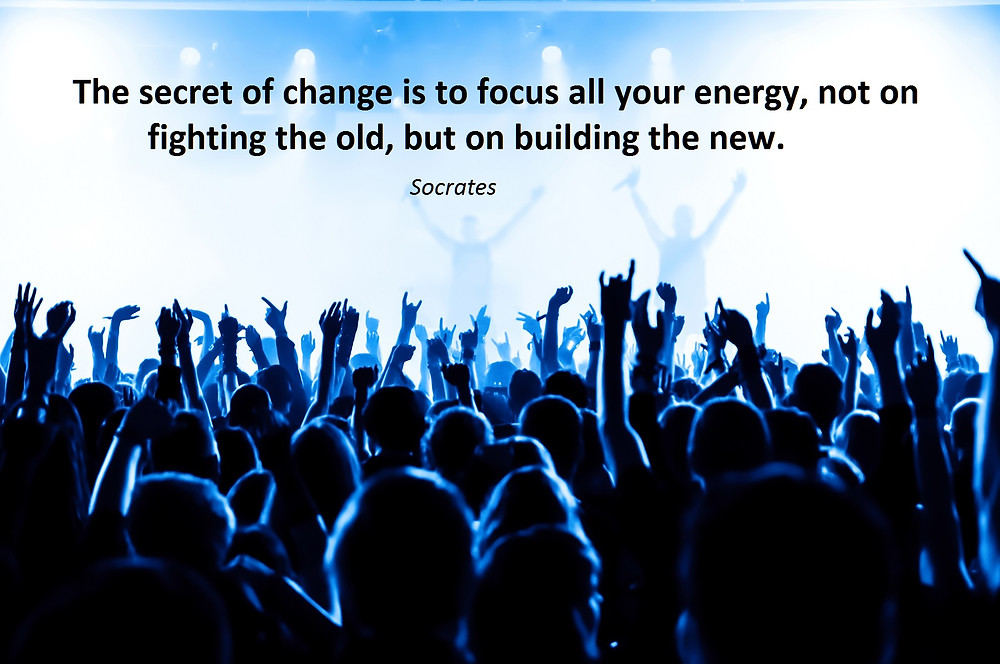 Focus your energy on the new