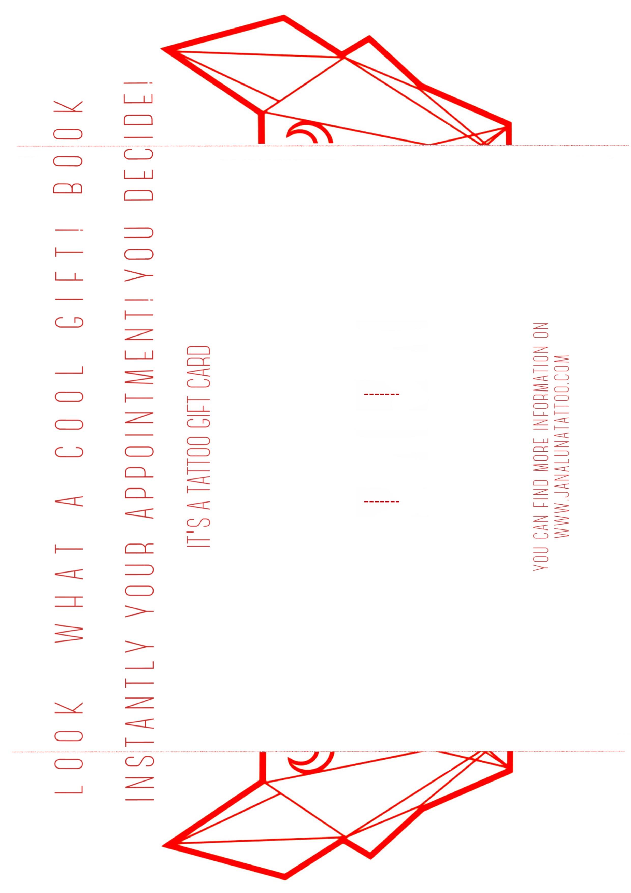 Gutschein auf A4 Format